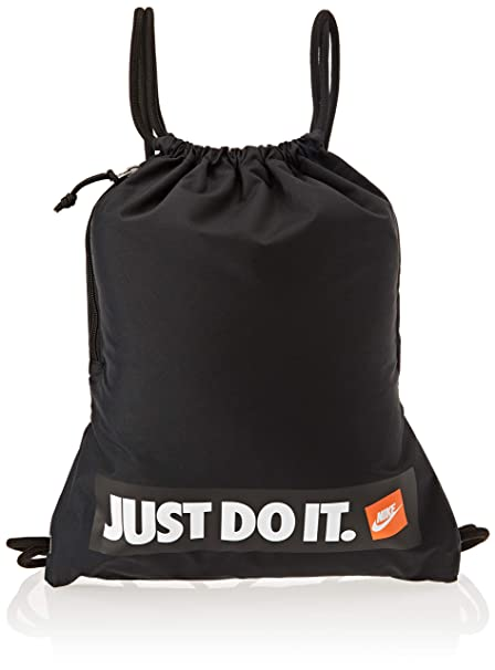 purchase cheap e2494 12ef1 Amazon.com  Nike Heritage Gymsack Air (One Size, Black White)  Sports    Outdoors
