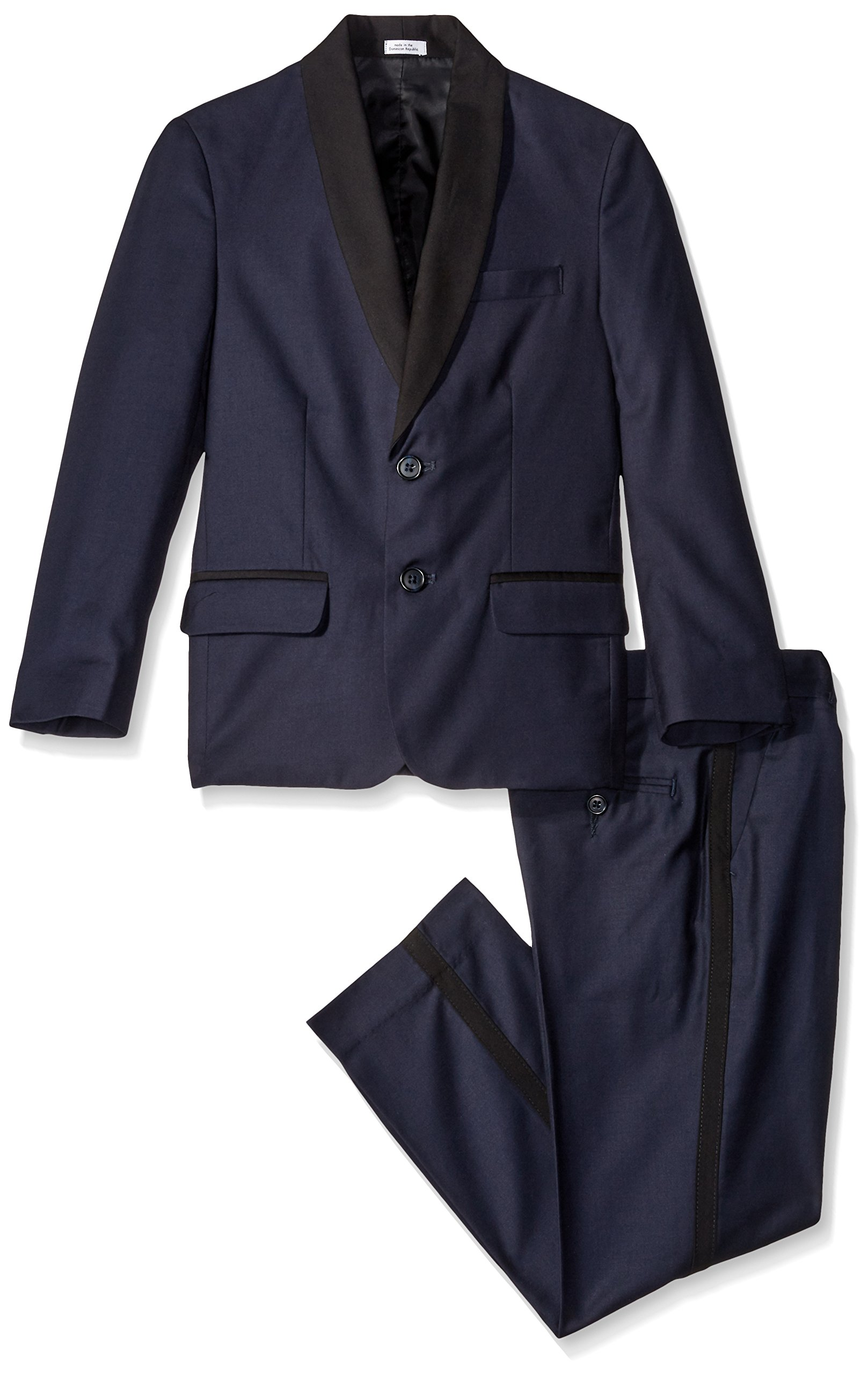 Calvin Klein Boys' Tuxedo Suit, Midnight, 8 by Calvin Klein
