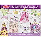 Melissa & Doug Jumbo 50-Page Kids' Colouring Pad Activity Book - Princess and Fairy
