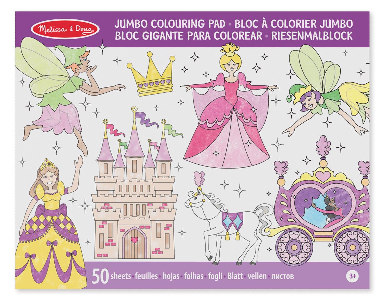 Melissa & Doug Bloc € Colorier Jumbo Aux Motifs Princesse Et Fée Amazon Jeux et Jouets