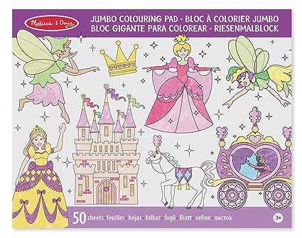 Melissa & Doug Jumbo 50-Page Kids\' Coloring Pad Activity Book ...