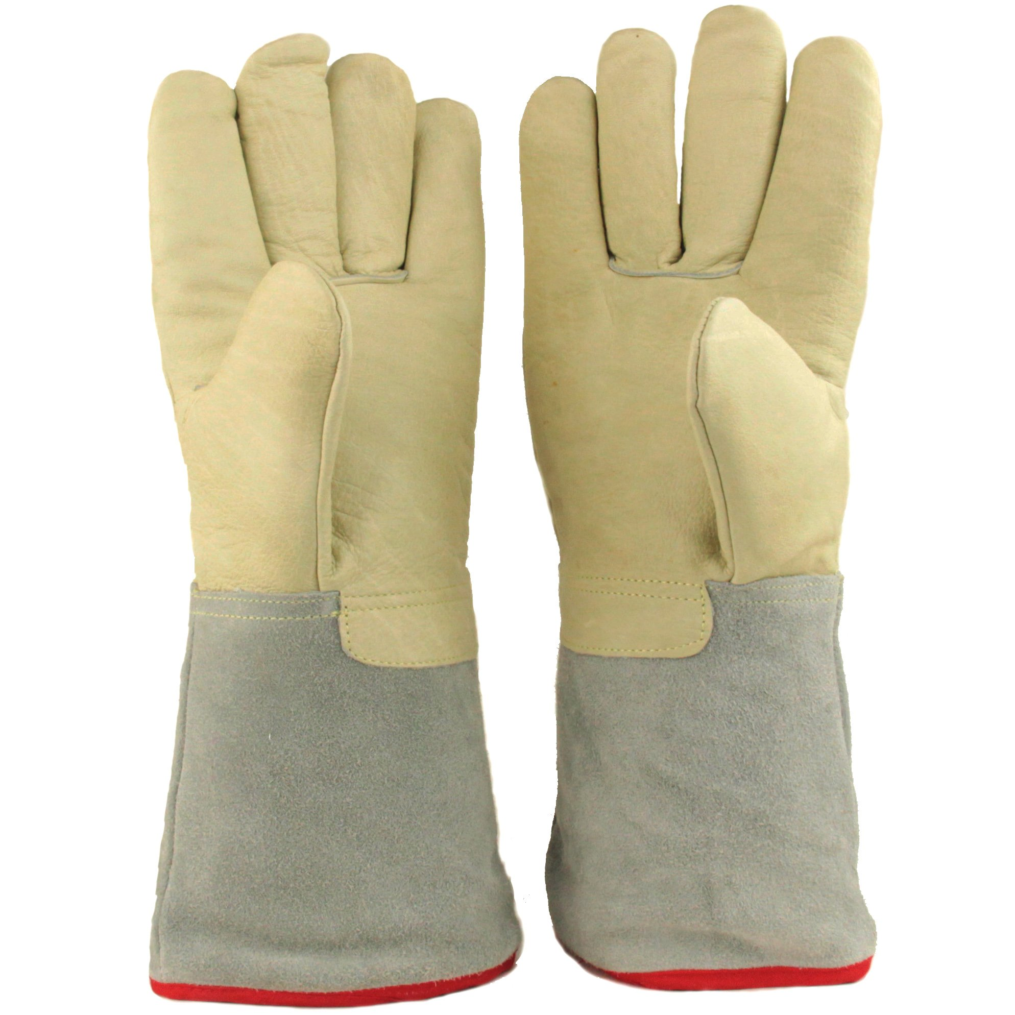 13.8''/35cm Long Cryogenic Gloves LN2 Liquid Nitrogen Protective Gloves from U.S. SOLID by U.S. Solid