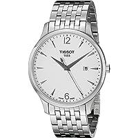 Tissot Men's T0636101103700 Tradition Analog Display Swiss Quartz Silver Watch
