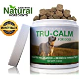 #1 Calming Aid for Dogs | For Hyperactive & Aggressive Behavior | Stress & Separation Anxiety | Travel & Motion Sickness | cGMP Certified | Made in USA | 120 Savory Soft Chews