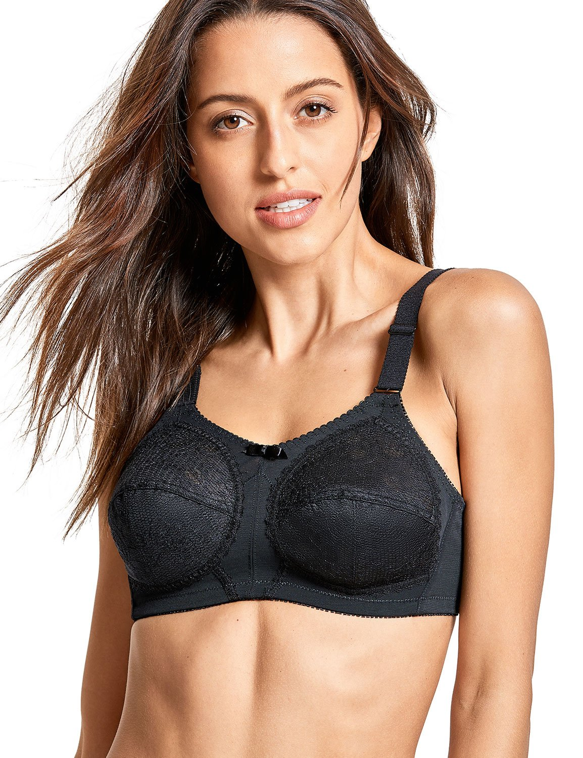 960ca9e0af Galleon - DELIMIRA Women s Plus Size Unlined Wire Free Lace Full Coverage  Comfort Support Bra Black 40D