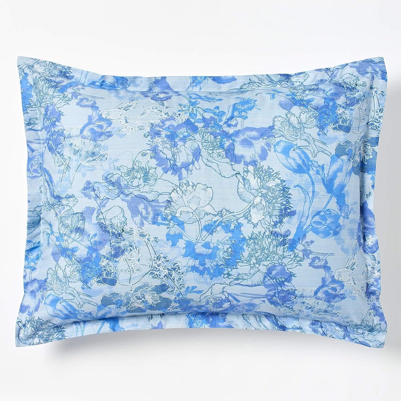Robert Graham Home スケッチブック 400スレッドカウント イタリアンパーケール織り 極細長繊維コットン枕カバー 標準 ブルー 標準  B07P8WCX2Q