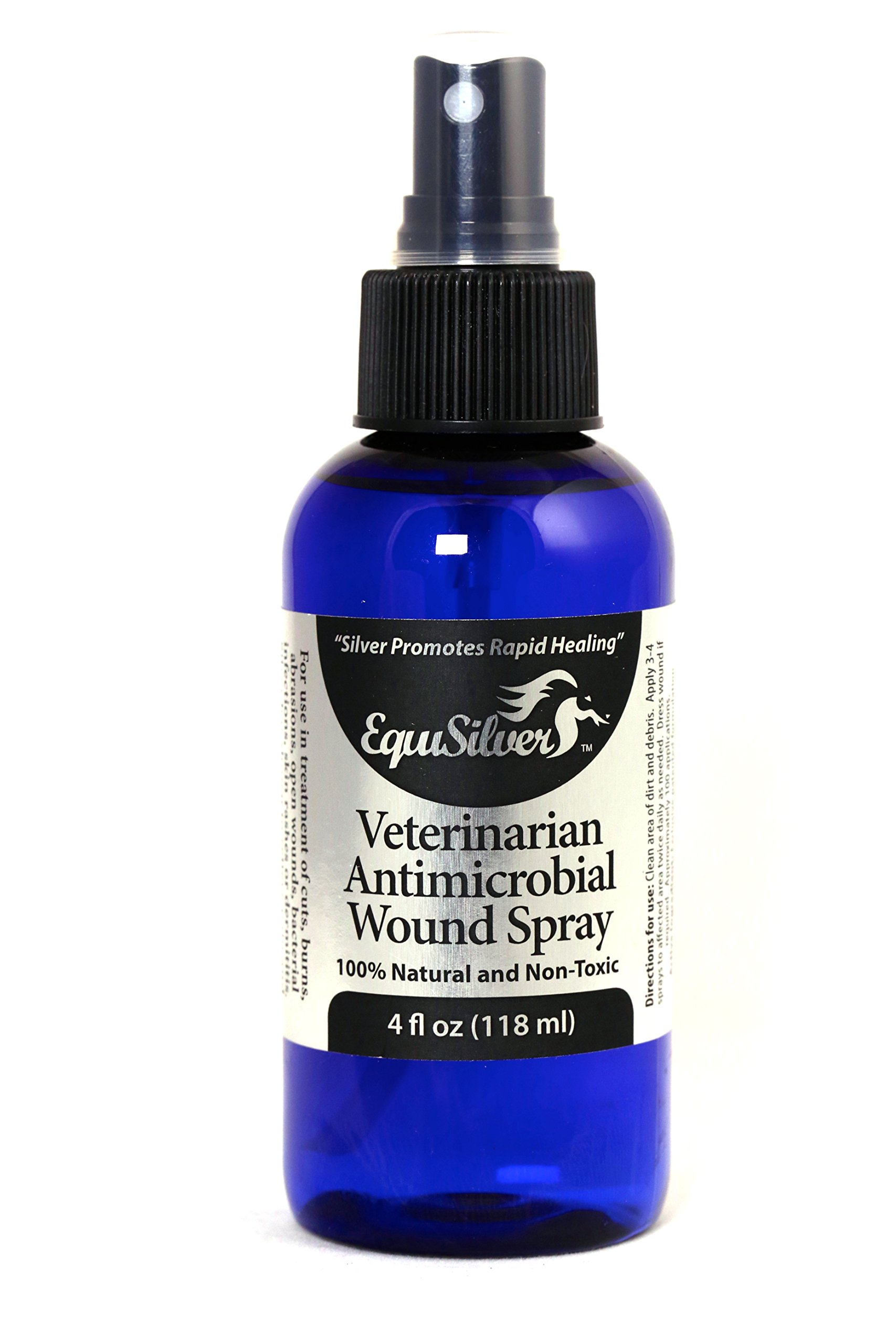 Equisilver Natural and Non-Toxic Vet Formulated Wound Spray for Dogs and Cats, 4 oz. by Equisilver