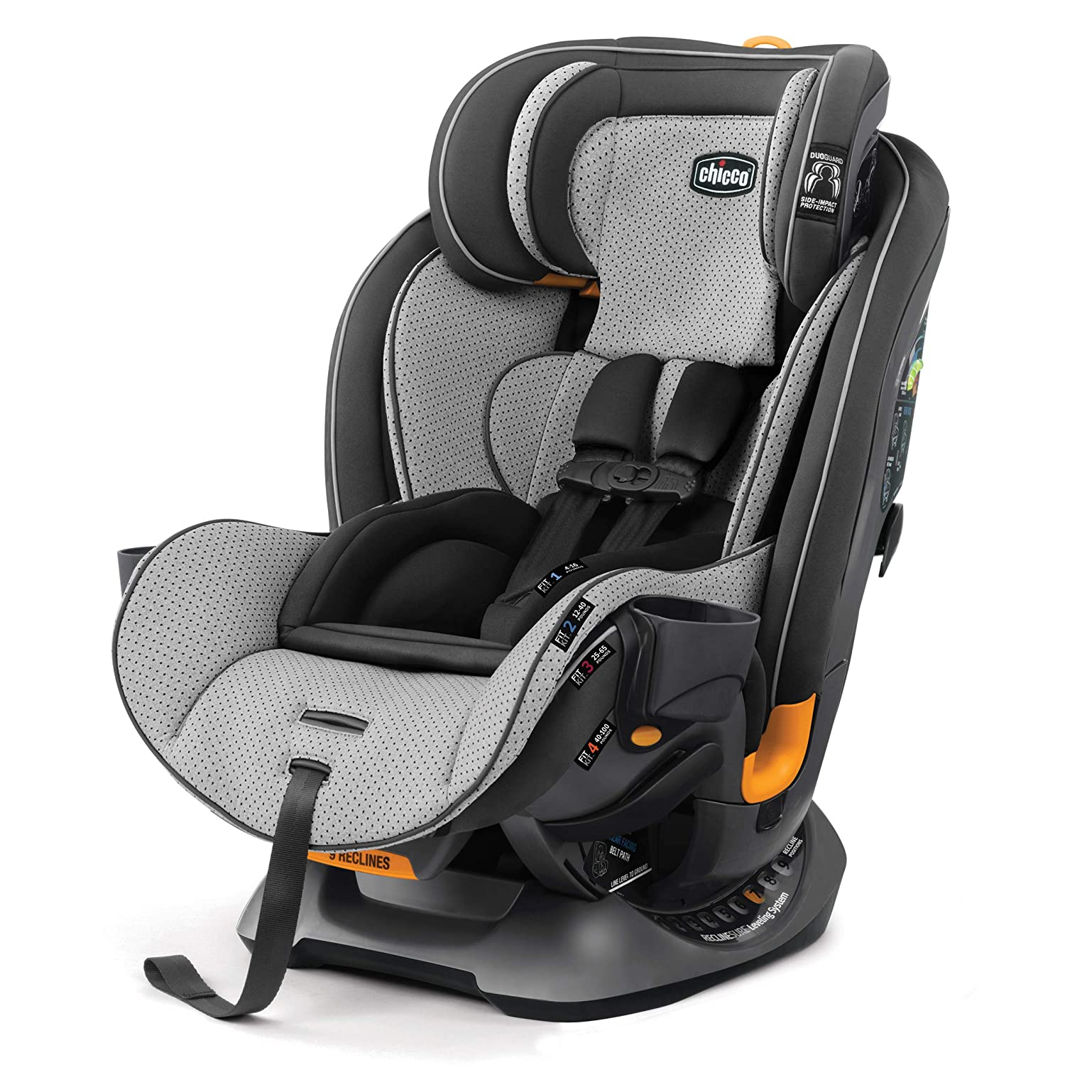 Amazon Com Chicco Fit4 4 In 1 Convertible Car Seat Easiest All In One From Infant To Booster 10 Years Of Use Stratosphere Baby