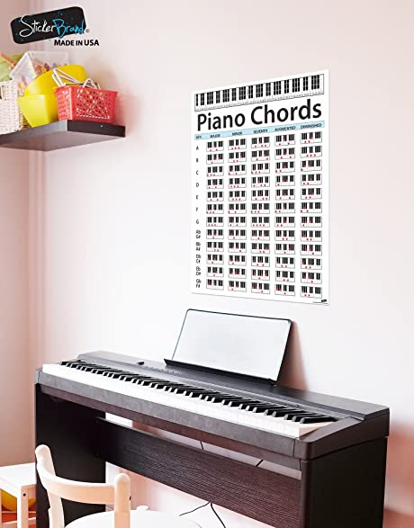AmazonCom Large Piano Chord Chart Poster Perfect For Students And
