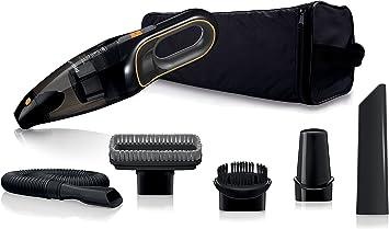 Philips MiniVac FC6149/01 - Aspiradora (Secar, 22 W, 840 l/min, 0,5 L, Negro, Naranja, 11 min): Amazon.es: Coche y moto