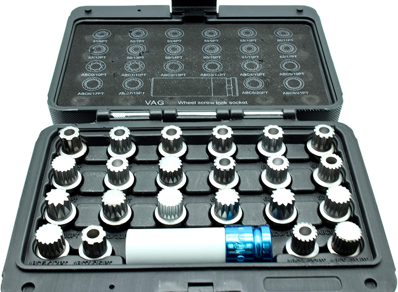 TEMO #61 Anti-Theft Wheel Lug Nut Removal Socket Key 3437 for Porsche