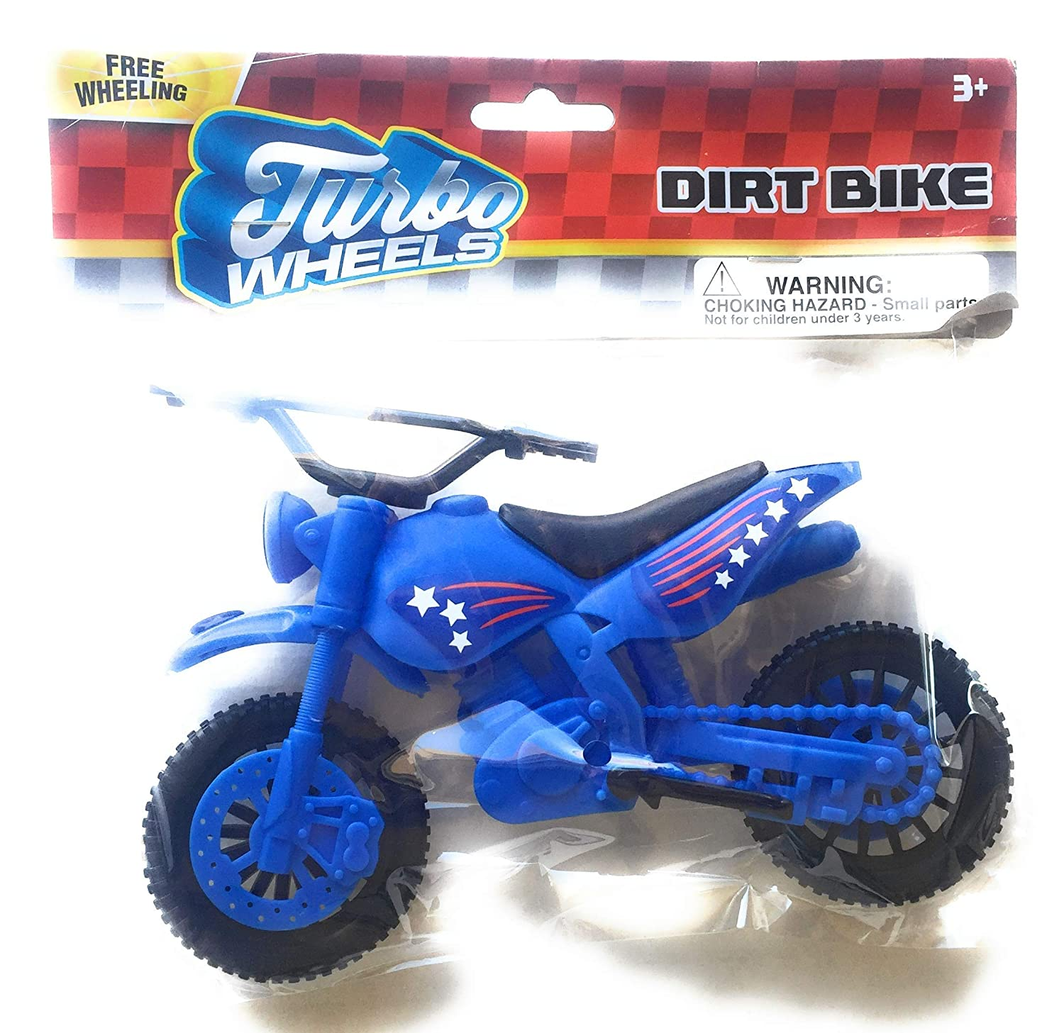 Amazon.com: Turbo Wheels Toy Plastic Dirt Bikes (Red, Blue, Green): Toys & Games