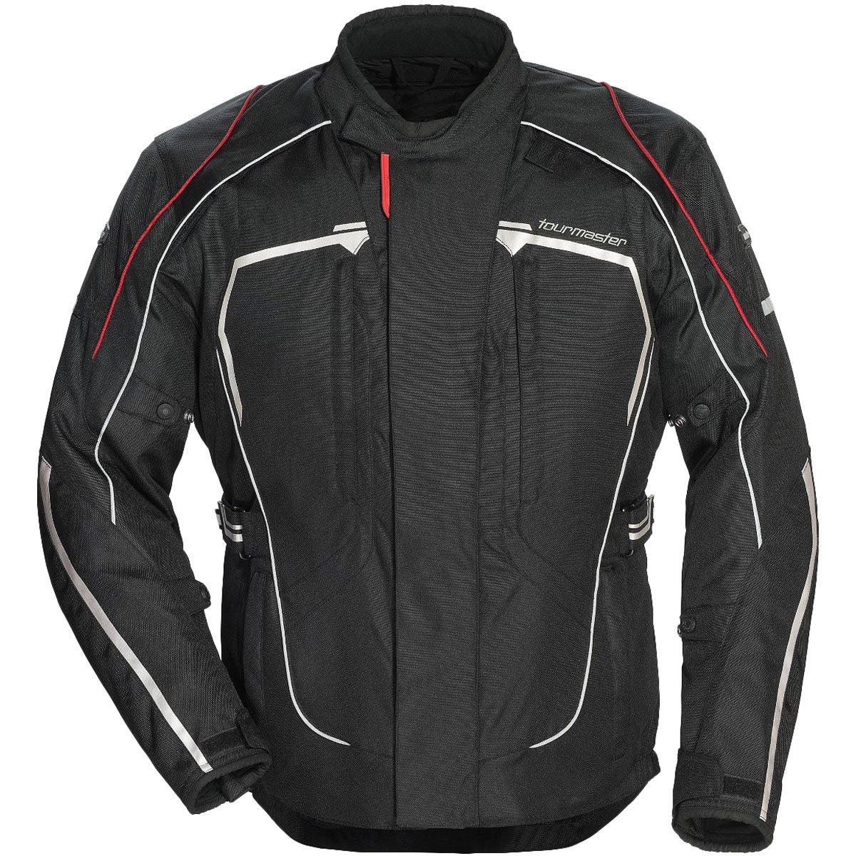 Tour Master Advanced Men's Textile Sports Bike Racing Motorcycle Jacket - Black/Black / 2X-Large