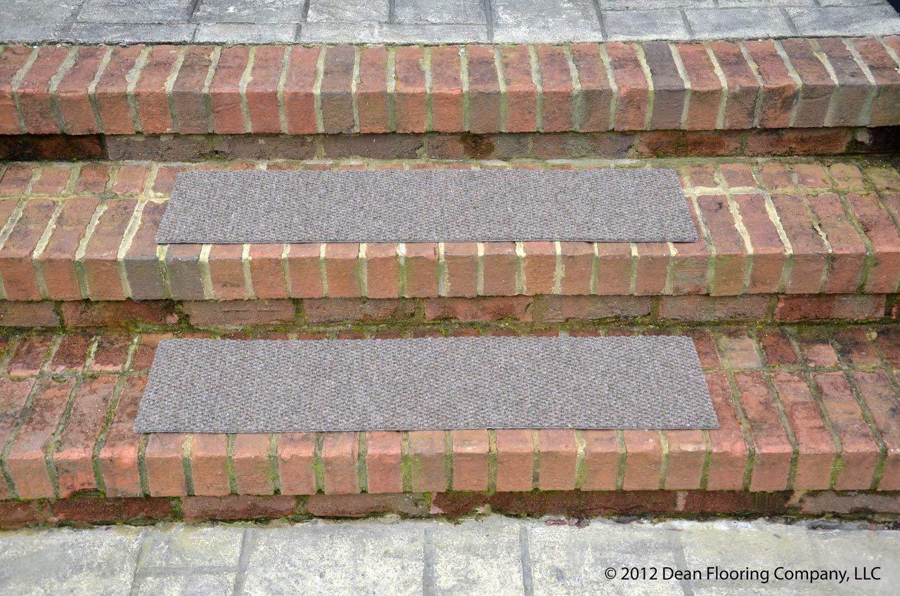 Dean Premium Indoor/Outdoor Carpet Non Skid Stair Treads - Beige Sand 24'' x 9'' (Set of 4)