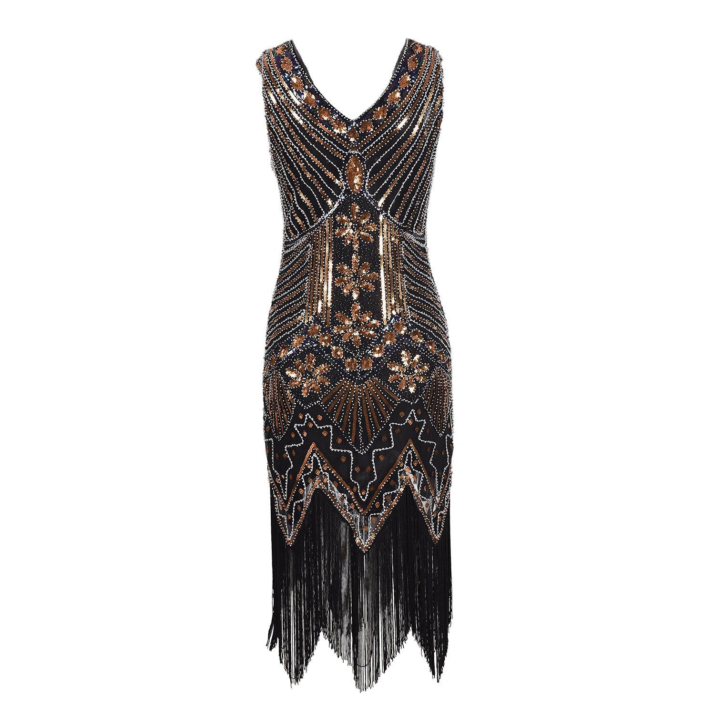 Años 20 Estilo Gatsby Disfraz Vestido con Flecos de Lentejuelas Vestido Fiesta Mujer Faldas Mujer Verano cóctel Mujer Faldas Cortas Mujer Verano Faldas de ...