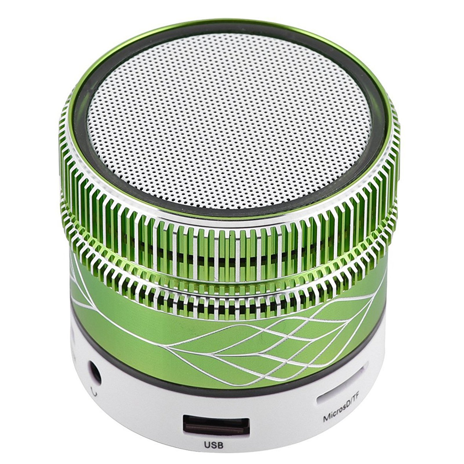 Small Mini Bluetooth Speaker LED Light Music Player Desktop Speaker Support TF Card Outdoors Sport Speaker for Android Samsung Galaxy S4 S5 S6 S7 Edge S8 S9 iPhone 8 7 6 6S 5S 5C Huawei Laptops Green