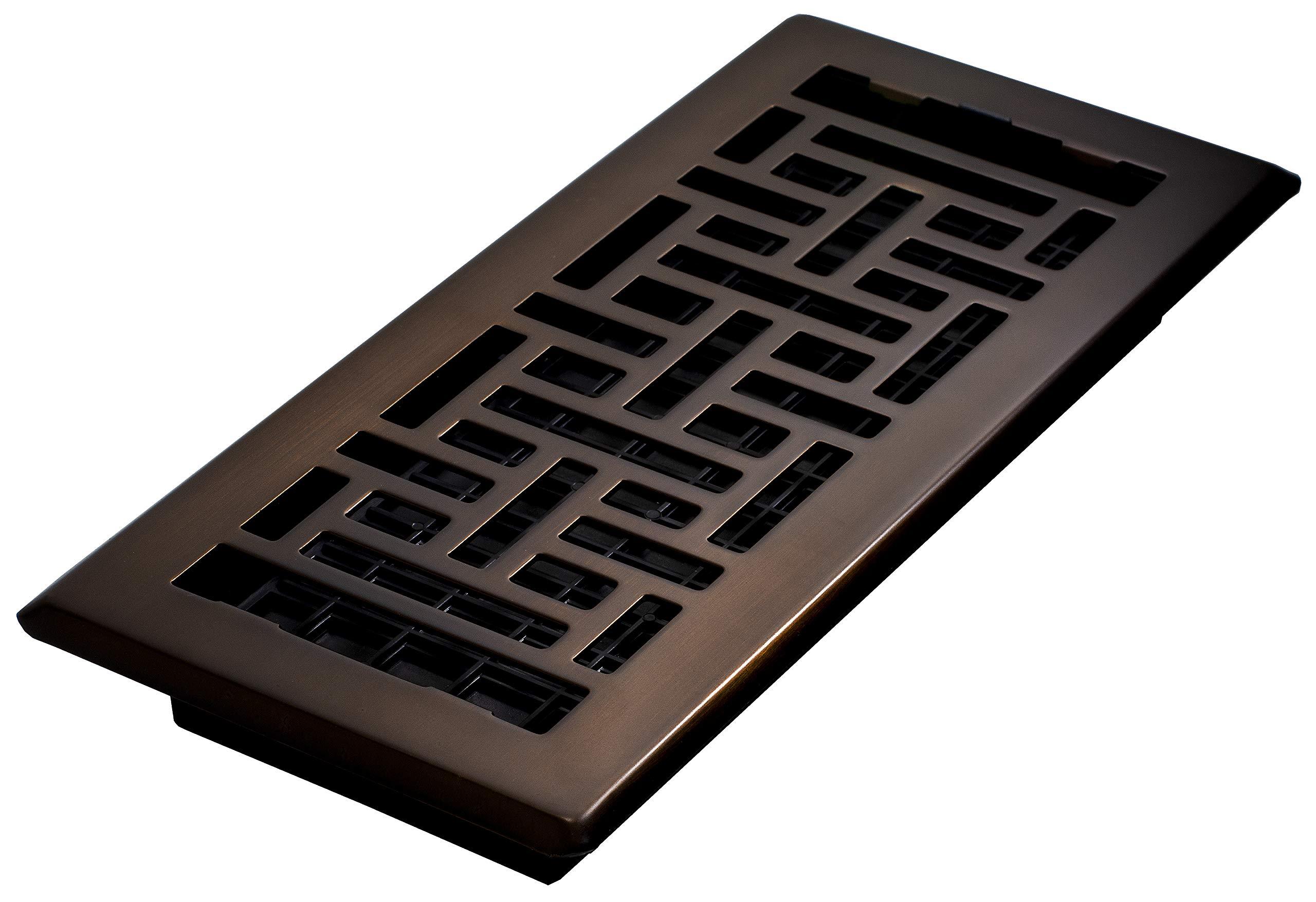 4 in. x 10 in. Steel Floor Register, Oil-Rubbed Bronze
