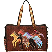 Laurel Burch Travel Bag Zipper Top 20-1/2-Inch by 8, 1/4-Inch by 16-Inch, Native Horses