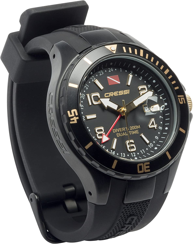 Cressi Traveller Dual Time Reloj de Buceo, Unisex Adulto