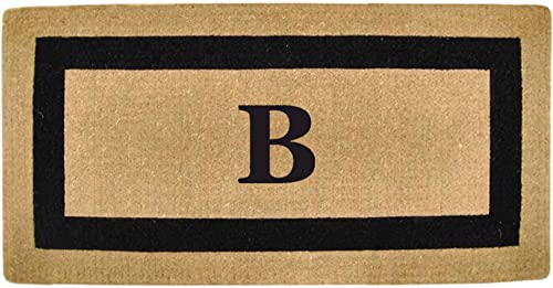 Heavy Duty Coco 36 x 72 Mat Black Single Picture Frame, Monogrammed B