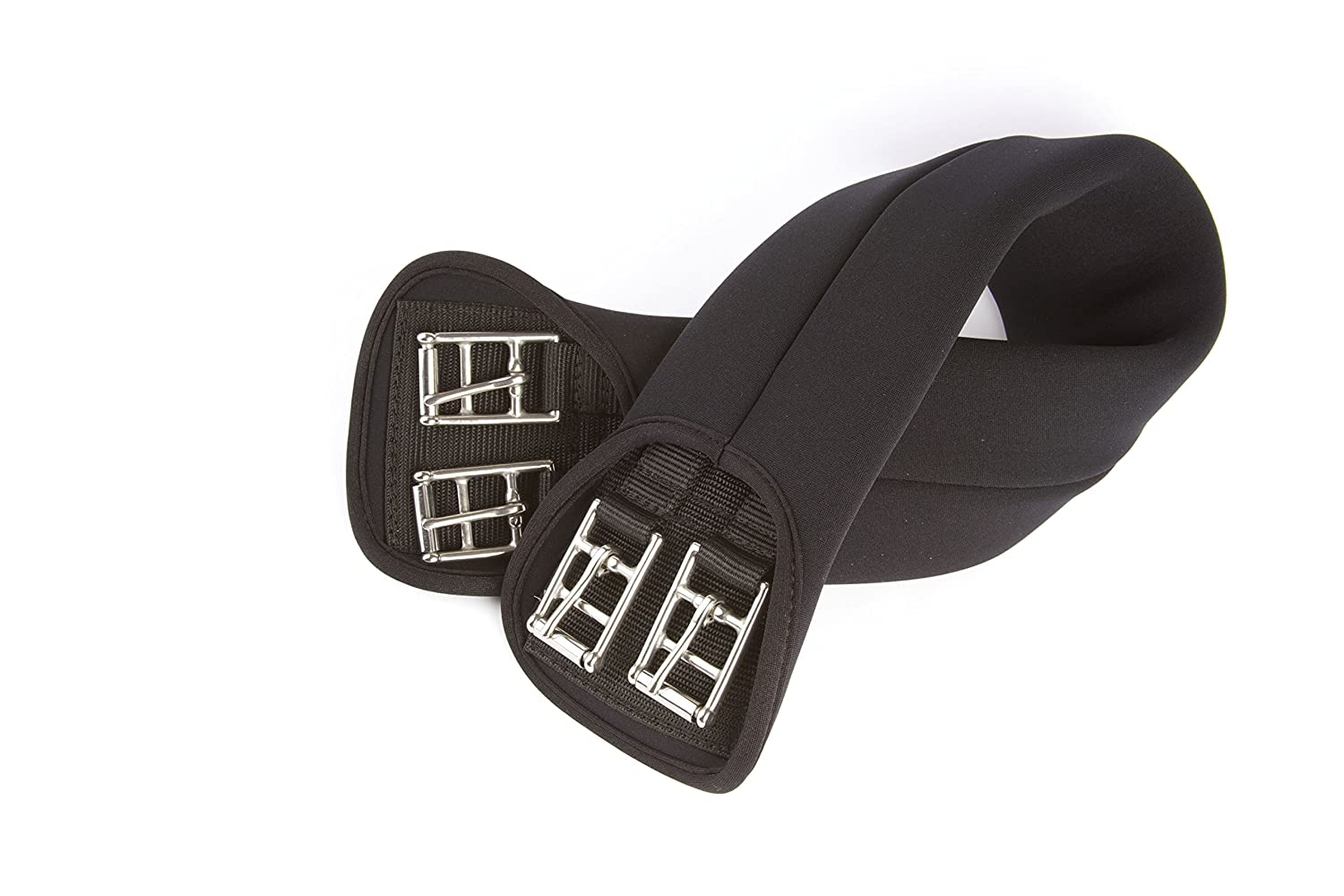 HyCOMFORT Neoprene Dressage Girth - Provides a Superb Level Of Comfort & Support - Available With Elsticated Ends As Well - Black William Hunter Equestrian