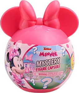 Minnie Disney Junior Mouse Mystery Figure Capsule, 9 Pieces Inside, Amazon Exclusive, Multi-Color (89906)