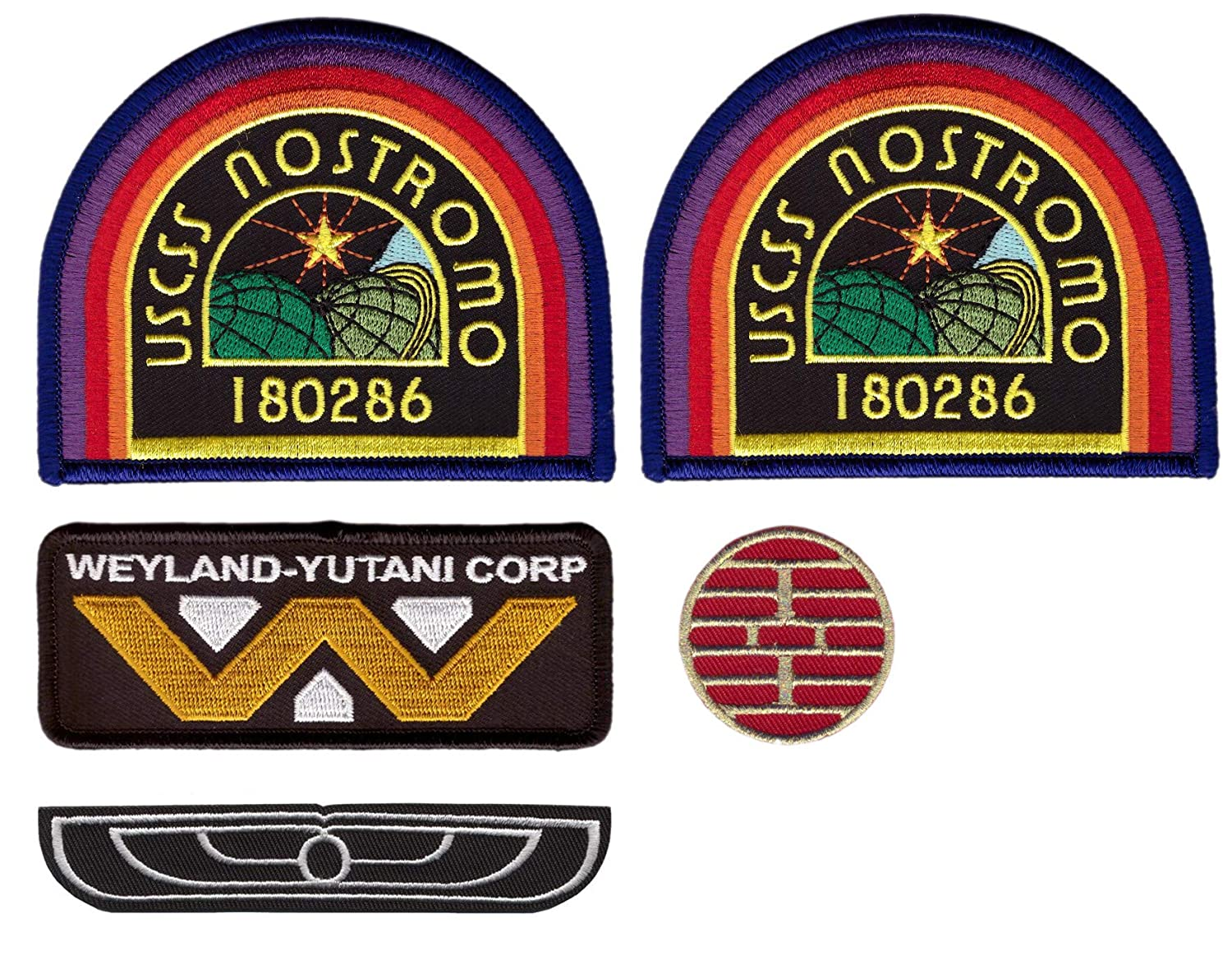 5 pcs Set - Alien Movie Weyland Corporation Nostromo Crew Wings Costume Patches Titan One