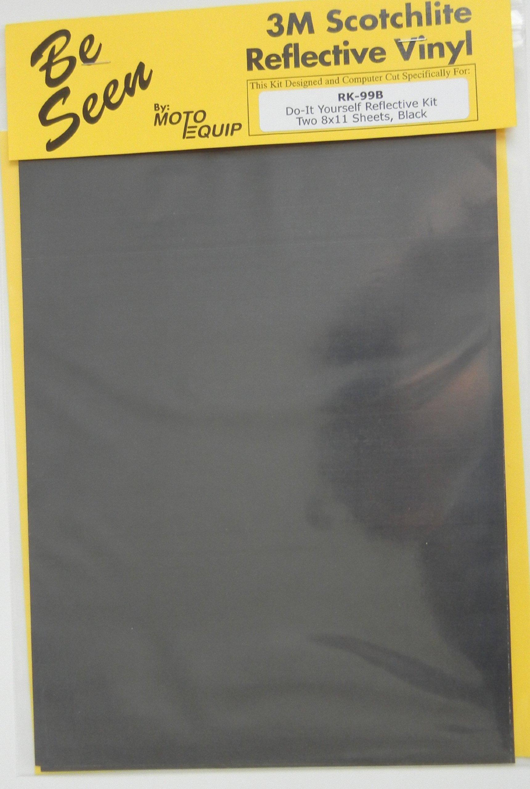 Motorcycle Black Reflective Tape 3M Scotchlite DYI Kit ME RK-99