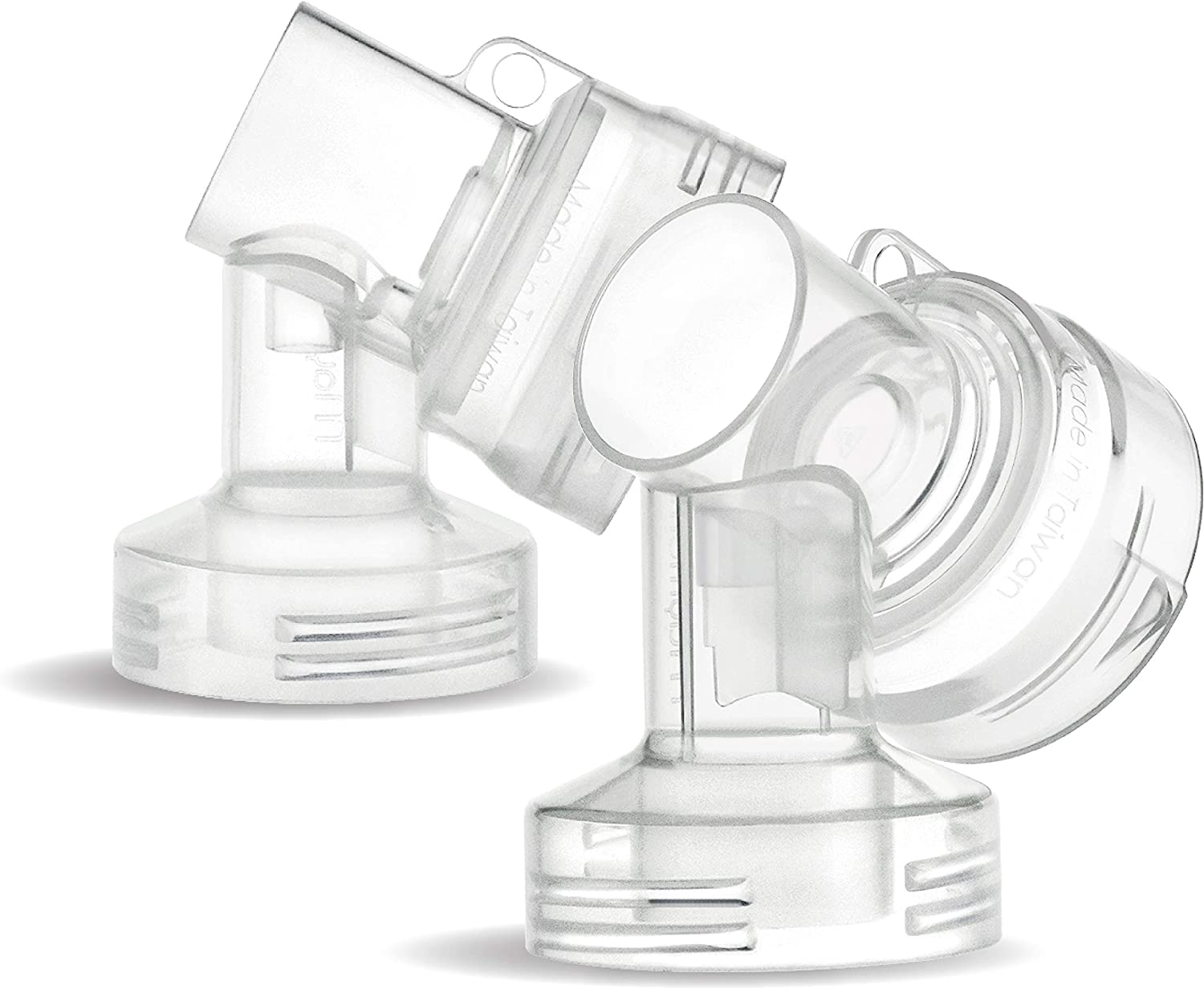 Compatible with Medela Freestyle Flex BreastShield; Lansinoh Shields; 2pc Maymom MyFit Narrow Neck Base Connectors; Compatible with Medela PersonalFit Connector; Use w//Maymom Two-Piece Shield System