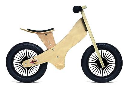 amazon com kinderfeets retro wooden balance bike natural toys games rh amazon com Square Wooden Balance Bike Tires DIY Wooden Bicycle