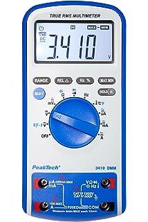 PeakTech P 3410 Digital Multímetro continuidad, resistencia, Capacidad, Temperatura, frecuencia, 6000