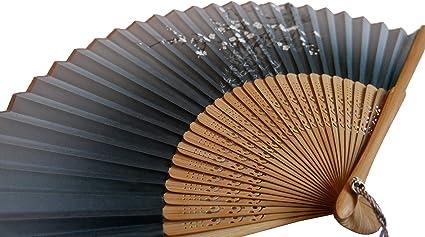 Global qualit/à Seta Stile Giapponese Cinese ventaglio Pieghevole per Compleanno o Matrimonio Fiore Modello bamb/ù tenuto in Mano casa Ufficio Decorazione da Parete Art
