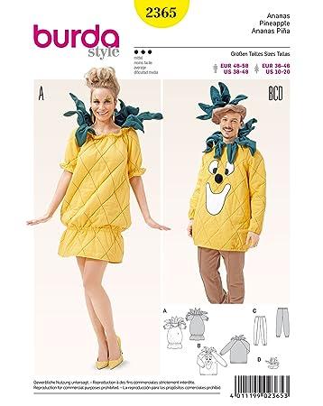 Burda Damen Schnittmuster 2365-Kostüm Ananas weiß: Amazon.de: Küche ...