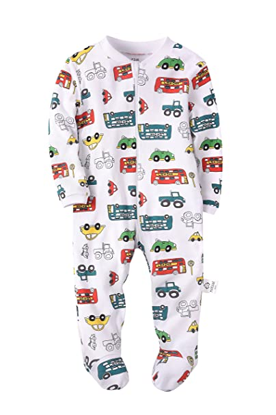 03126a31685a Marquebaby Baby Boys Pajama - 100% Cotton Long Sleeve Romper Outfits ...