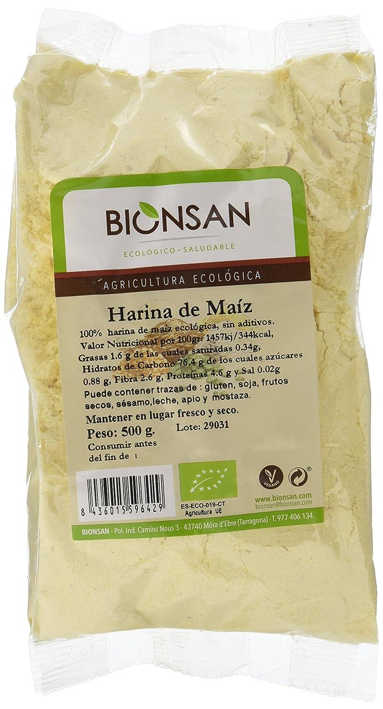Bionsan Harina de Maíz Ecológica - 6 Bolsas de 500 gr - Total ...