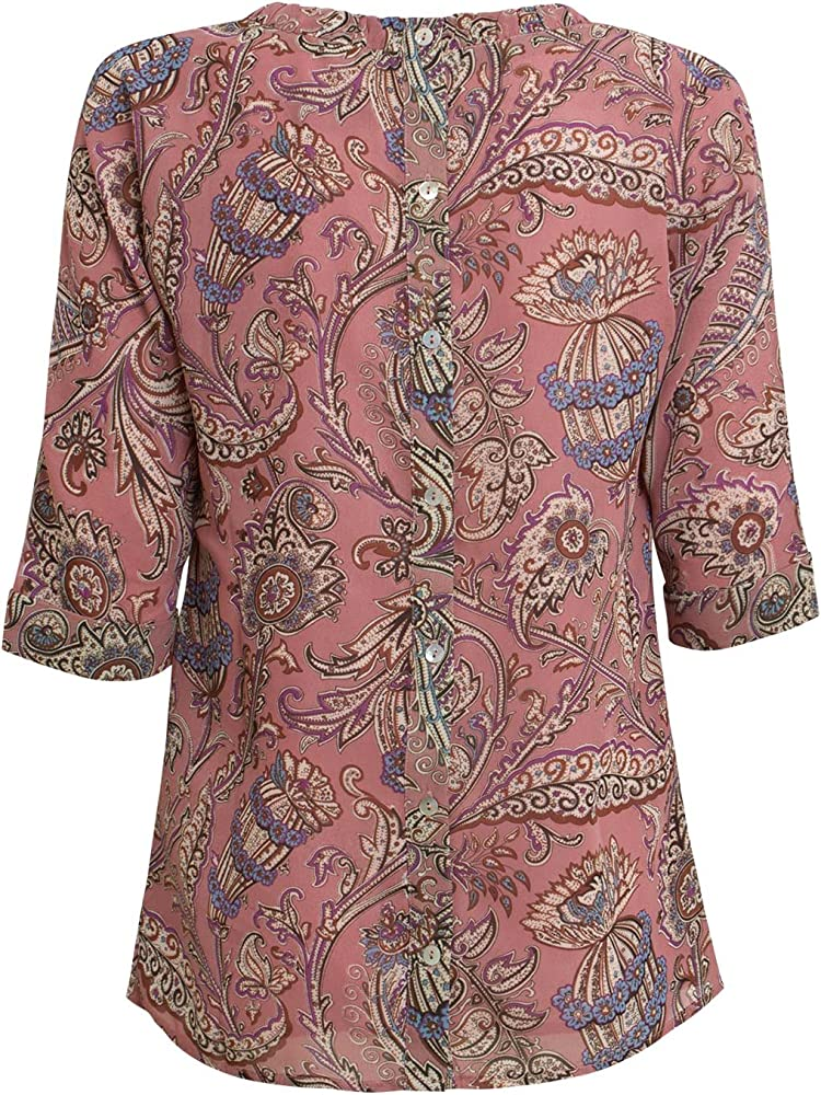 JcSophie - Camisa multicolor para mujer: Amazon.es: Ropa y accesorios