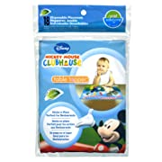 Disney Mickey Mouse Table Topper Disposable Stick-on Placemats in Reusable Package, 12  x 18 , 18 Count