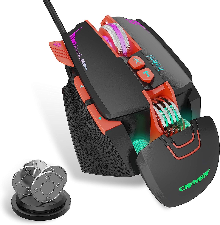 Cnymany Gaming Maus Wired Gaming Maus Für Pc Mac Elektronik