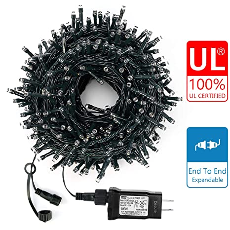 Decute Upgraded 105 Feet 300 Led Christmas Lights Outdoor Indoor String Light Fairy With End To End Plug 100 Ul Certified For Christmas Tree Holiday