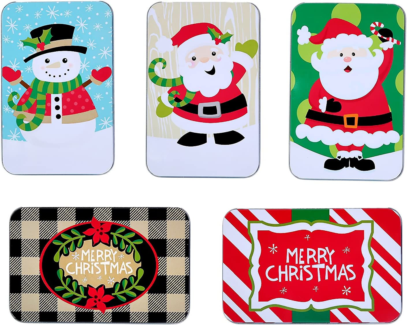 Assorted Christmas Gift Card Holder Tins