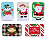 Juvale Assorted Christmas Card Tin Holders Box