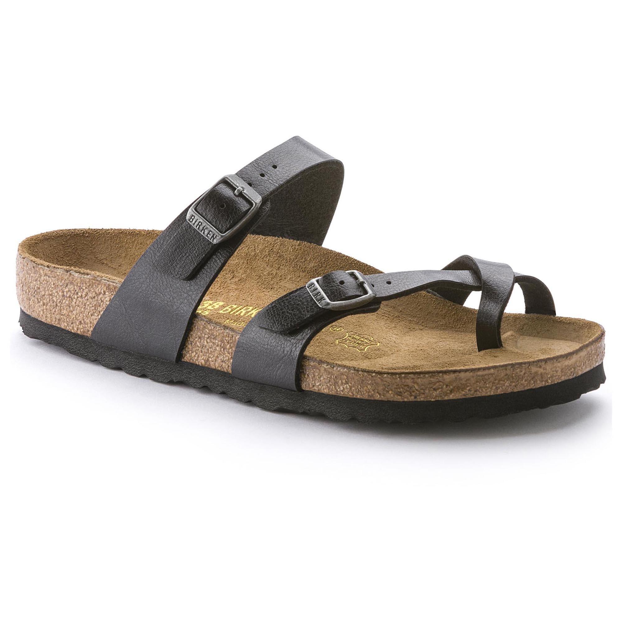 Birkenstock Mayari Women US 8 Black Slides Sandal