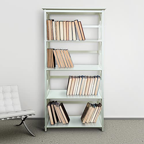 Casual Home Montego Bookcase, 5-Shelf, White