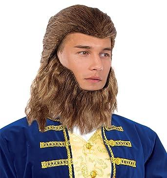 Amazon.com: La bestia disfraz Pelucas De Pelo W/peluca Cap ...
