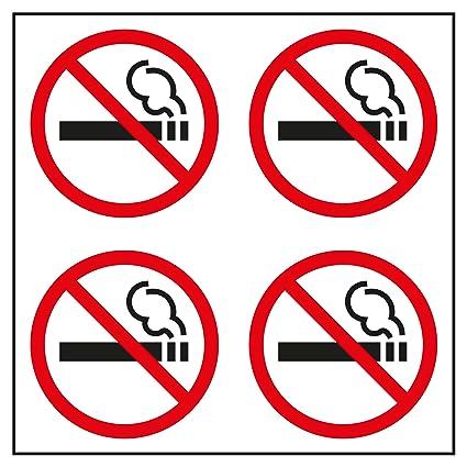 Apli 12139 Bolsa Etiquetas Prohibido Fumar, Pequeño