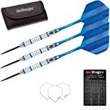Red Dragon Stag Dartcraft Greys 4: 30g - 85% Tungsten Steel Darts with Flights, Shafts, Wallet & Red Dragon Checkout Card
