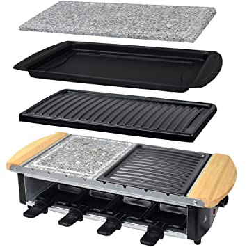 Syntrox Germany - Raclette con diseño de acero inoxidable ...
