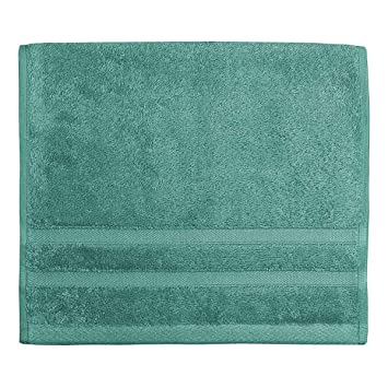 Toalla Invitado 30 x 50 cm 600 gr/m² algodón peinado/Modal sensilk, Aqua Sea, 30 x 50: Amazon.es: Hogar