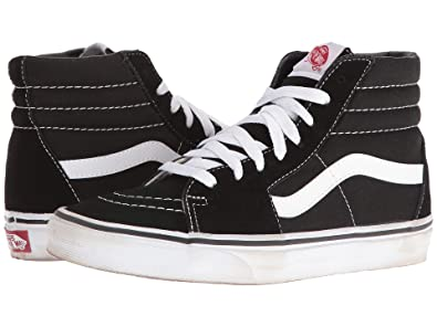 190dabb57be Image Unavailable. Image not available for. Color  Vans Unisex SK8-Hi Black White  ...