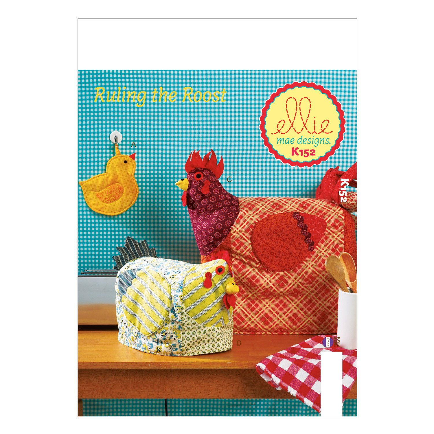 KWIK-SEW PATTERNS K0152OSZ Potholder and Appliance Covers Sewing Template, One Size